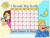 Kids Brushing chart Color